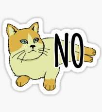 Pegatina NO - Gato feminista
