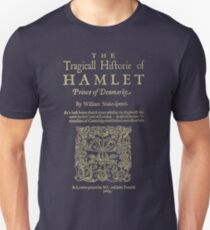 Shakespeare, Hamlet. Dark clothes version. Slim Fit T-Shirt