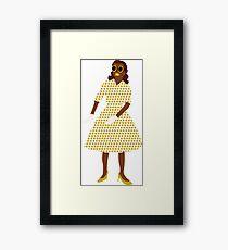 Steam Punk 50s-60s Dot Style Gold Framed Print