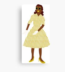 Steam Punk 50s-60s Dot Style Gold Canvas Print