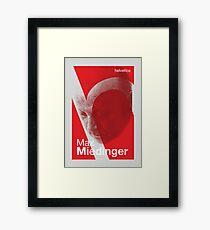 Max Miedinger (type designer of Helvetica) Framed Print