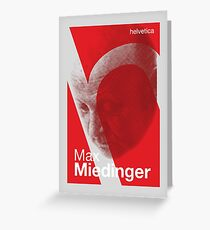 Max Miedinger (type designer of Helvetica) Greeting Card