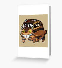 Katzenbus Totoro Grußkarte