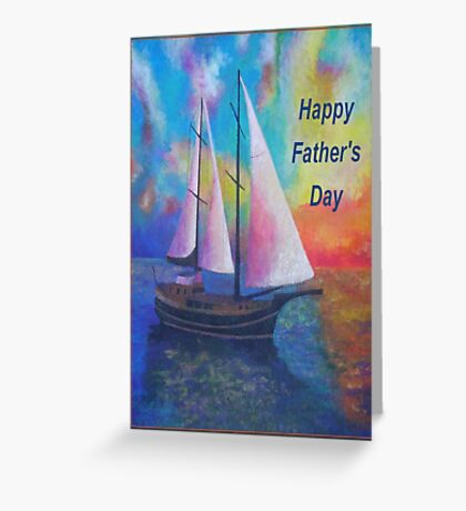 Happy Father's Day Bodrum Turquoise Coast Gulet Cruise Greeting Card