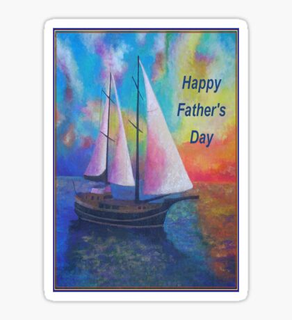 Happy Father's Day Bodrum Turquoise Coast Gulet Cruise Sticker