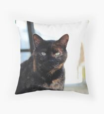 Tortoise Shell Cat Throw Pillow