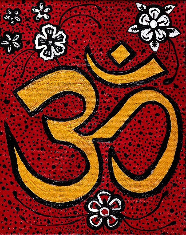 Red and gold om symbol by matterz000 redbubble red and gold om symbol buycottarizona