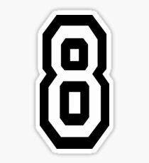 8, EIGHT, TEAM SPORTS, NUMBER 8, eighth, competition Sticker