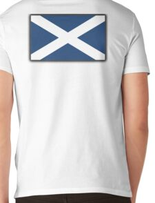 Scotland, Flag of Scotland, Scottish Flag, Saltire, Pure and Simple, SNP, S.N.P, Scottish Independence, Scots,  Mens V-Neck T-Shirt