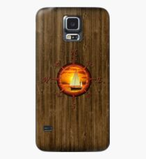 Sailboat And Compass Rose Case/Skin for Samsung Galaxy