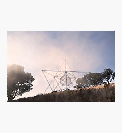 SunStar in the Fog on Signal Hill, Cape Town Photographic Print