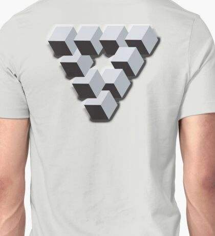 ILLUSION, Optical illusion, visual illusion, weird, odd, Cube, triangle Unisex T-Shirt