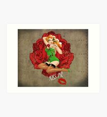 Ivy and Roses Pinup Art Print