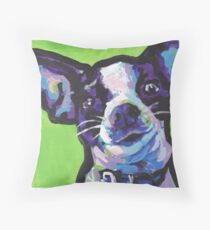 Chihuahua Dog Bright colorful pop dog art Throw Pillow