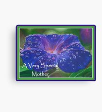 A Very Special Mother Deep Purple Morning Glory Canvas Print