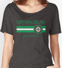 Euro 2016 Football - Northern Ireland (Away Blue) Women's Relaxed Fit T-Shirt