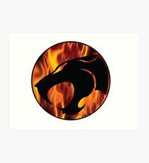 Fire cats Art Print