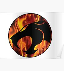 Fire cats Poster