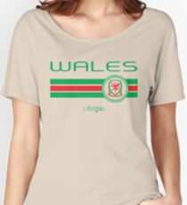 Euro 2016 Football - Wales (Home Red) Women's Relaxed Fit T-Shirt