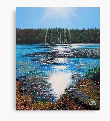 'Light Shines on Bass Lake' Canvas Print