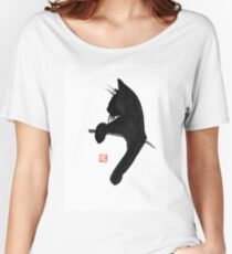 cat is waiting Women's Relaxed Fit T-Shirt