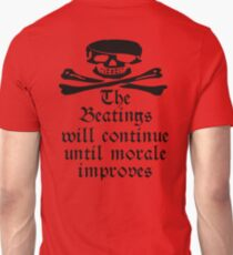 Pirate, Morale, Skull & Crossbones, Jolly Roger, Buccaneers, Me Harties! T-Shirt
