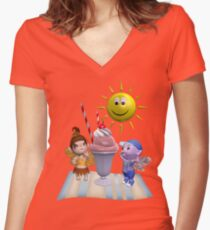 Summer Surprise Women's Fitted V-Neck T-Shirt