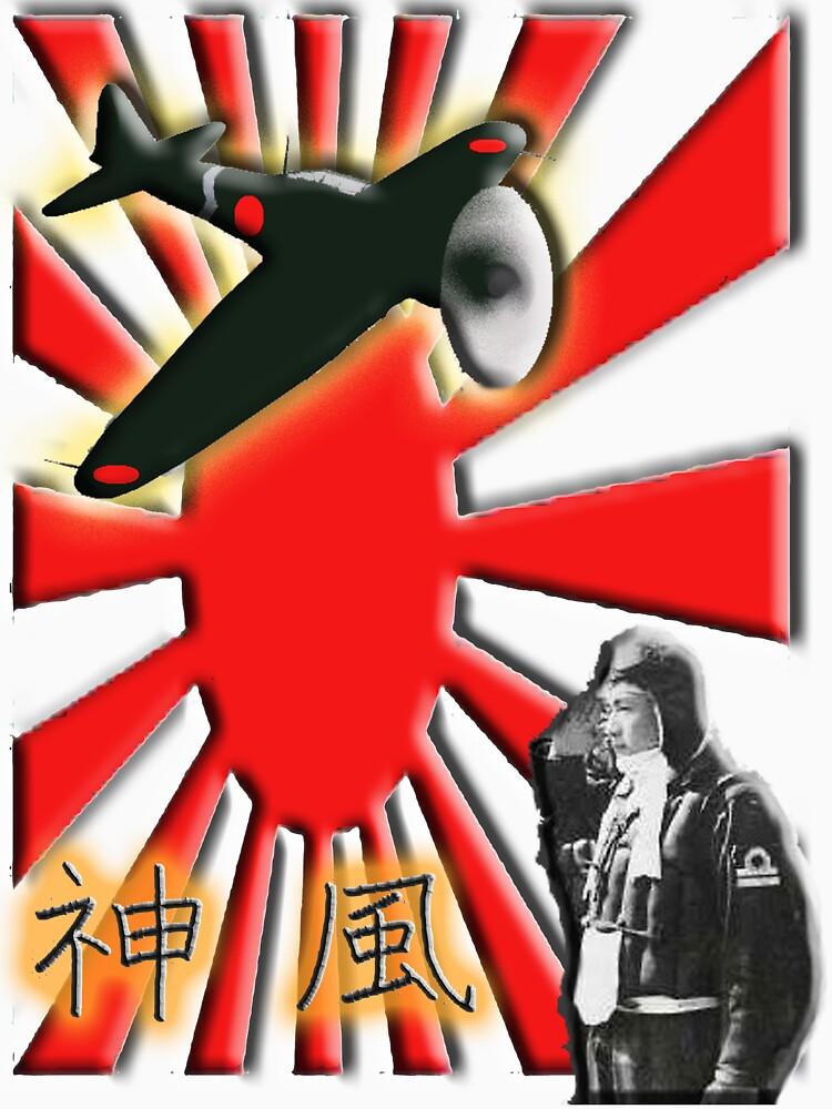 WAR PLANE, ZERO, JAPAN, Kamikazi, Zero Pilot, Japanese, World War Two, WWII, by TOMSREDBUBBLE