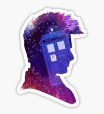The Tenth Doctor Silhouette with TARDIS Sticker