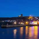 Whitby by night by Roger McNally