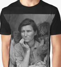 Migrant Mother by Dorothea Lange (1936) Graphic T-Shirt