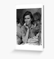 Migrant Mother by Dorothea Lange (1936) Greeting Card