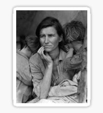 Migrant Mother by Dorothea Lange (1936) Sticker