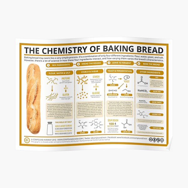 The Chemistry of Bread-Making Poster