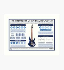 The Chemistry of an Electric Guitar Art Print
