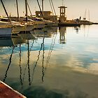 Clouds reflected in the Marina by Ralph Goldsmith