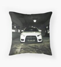 White Evo 10 Throw Pillow