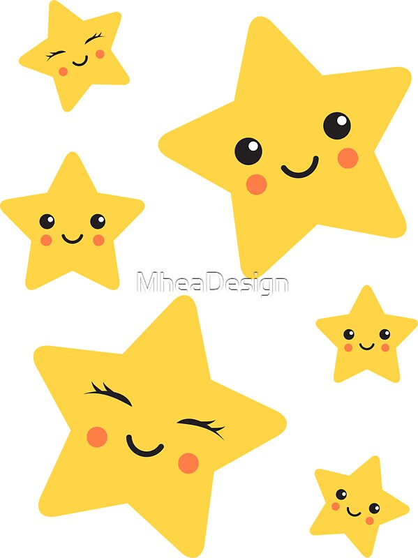 "Favorito Cute kawaii stars sticker collection"" Stickers by MheaDesign  ID58"