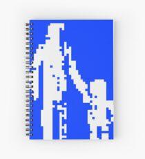 1 bit pixel pedestrians (white) Spiral Notebook