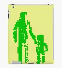 1 bit pixel pedestrians (green) iPad Case/Skin