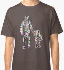 8 bit pixel pedestrians (color on white) Classic T-Shirt