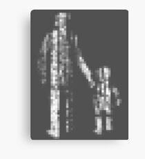 8 bit pixel pedestrians (light) Canvas Print
