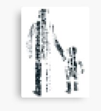 8 bit pixel pedestrians (dark) Canvas Print
