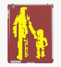 1 bit pixel pedestrians (yellow) iPad Case/Skin