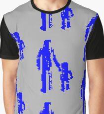 1 bit pixel pedestrians (blue) Graphic T-Shirt