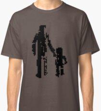 1 bit pixel pedestrians (black) Classic T-Shirt
