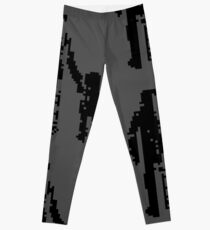 1 bit pixel pedestrians (black) Leggings