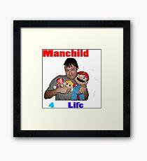 Manchild 4 Life Framed Print
