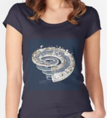 Geologic Period Timeline Women's Fitted Scoop T-Shirt