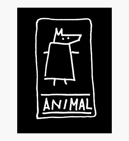 Animal (outline white) Photographic Print